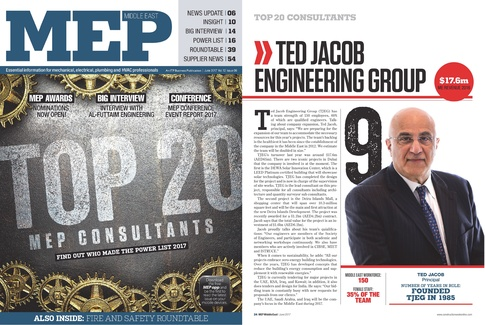 TJEG is listed as #9 on the Top 20 MEP Consultants in the Middle East