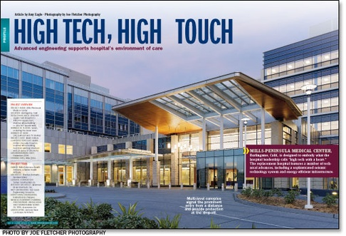 """High tech, High touch"", TJEG is featured on Health Facilities Management webpage for Mills-Peninsula Medical Center"